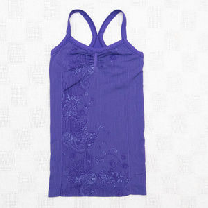 Athleta Paisely/Floral Athletic Racerback Tank